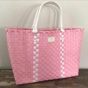KATE SPADE ♠️ Large Pink Woven Tote Beach Bag BNWT
